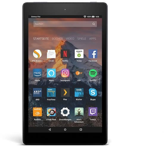 amazon fire hd 8 2017 test techn daten news preise. Black Bedroom Furniture Sets. Home Design Ideas